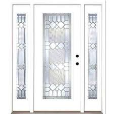 exterior fiberglass doors with glass in mission zinc full lite unfinished smooth left fiberglass exterior double