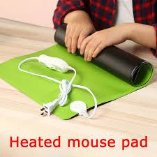 large size heated mouse pad 600 360mm winter warm desktop pc laptop computer desk mat