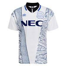 Everton jersey 17/18 home away and third kits released Everton 1995 Away Umbro Shirt Everton Retro Jersey Score Draw