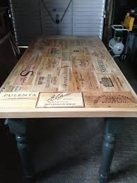 Wooden Wine Box End Table : ideal for the kitchen