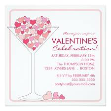 Valentines Invitations Valentines Party Invitations Hearts Martini Valentines Day Party
