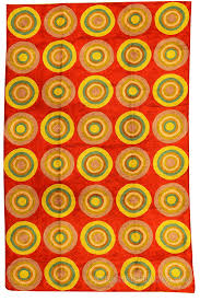 kandinsky red rugs abstract circles wall hangings accent