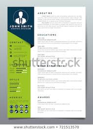 Resume Design Template Minimalist Cv Business Stock Vector Royalty