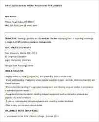 free substitute teacher resumes - Substitute Teacher Resume