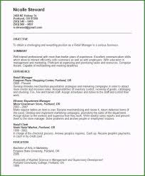 Sample Resume Of Store Manager Retail Store Manager Resume Sample Fabulous Sales