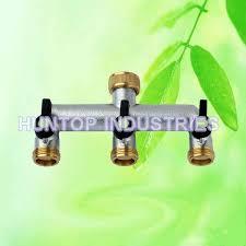 high quality brass tap manifold 3 way