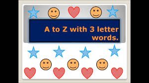 a to z three letter words 3 letter