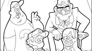 Gravity Falls Coloring Book With Gravity Falls Coloring Book Hello