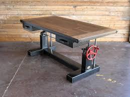 industrial office desk. Driftwood Industrial Office Desk