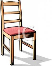 dining chair clipart. realistic dining chair - royalty free clipart picture .