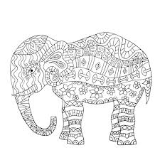 Elephant Mandala Coloring Pages Free For
