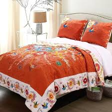orange duvet quilt sets home fashions bohemian fl set 3 piece cotton rich latest neo cover orange duvet king size bedding sets