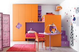 Purple And Orange Bedroom Decor Apartment Themes Kids Beautiful Relaxing Rustic Kid Bedroom
