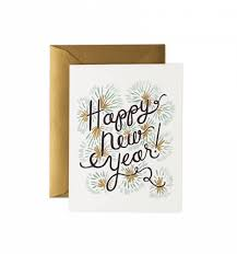 Happy New Year Greeting Card By Rifle Paper Co Made In Usa