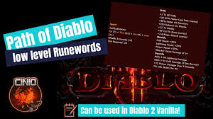 D2 Leveling Chart Path Of Diablo Low Level Runewords