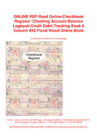 Online Checkbook Register Online Pdf Read Online Checkbook Register Checking Account