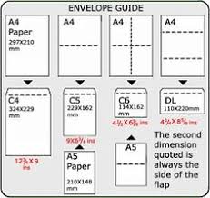 Envelope Size Chart Pdf 11 Best Size Images Envelope Size Chart Envelope