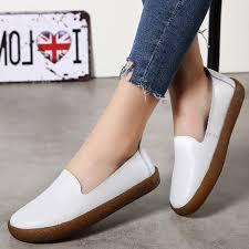 Women Flats <b>Roman Style Women Shoes</b> White Loafers For Women ...