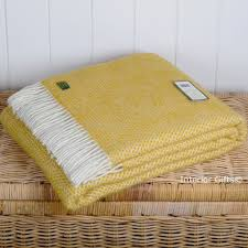 Lemon Yellow Throw Blanket