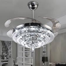 ceiling fan chandeliers cool ceiling fans line led crystal chandelier fan lights landscape