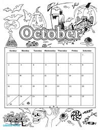 Small Picture October Calendar Coloring Page Calendar