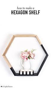 image of simple hexagon shelf
