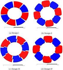 rotor poles of the axial flux pm motors