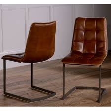 dolomite leather dining chair   no