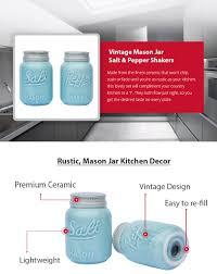 Kitchen Decorative Filled Jars Amazon Vintage Mason Jar Salt Pepper Shakers by Comfify 53