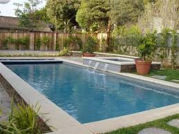 Wonderful Rectangular Pool Designs With Spa Traditional A Raised And In Creativity Design