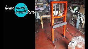 how to make powerful hydraulic press from 4 ton jack diy homemade inventions