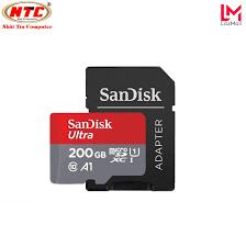 Thẻ nhớ MicroSDXC SanDisk Ultra A1 200GB Class 10 U1 100MB/s kèm adapter  (Đỏ) - Nhat Tin Authorised Store