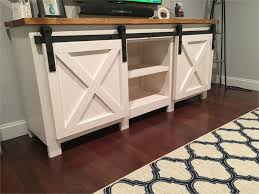 diy barn door buffet 19 amazing diy tv stand ideas you can build right now dveÅ