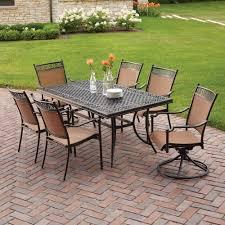 Simple Patio Furniture Dining Sets Park Sling Set N Intended Design