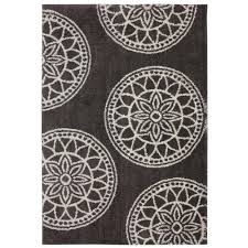 mohawk home gray medallions gray woven 8 ft x 10 ft area rug