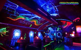 glow in the dark lighting. Black Lights Bar For UV Paints Glow In The Dark Lighting