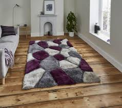 think rugs noble house nh5858 grey purple pebbles rug