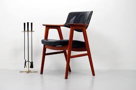 retroaktiv design 1960s teak and leather desk armchair by erik