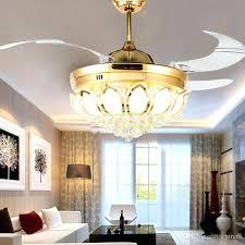 Folding Ceiling Fan Discount Modern Crystal Ceiling Fan Inch