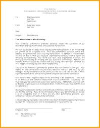 How To Write Up A Written Warning For An Employee Written Warning Samples Excessive Absenteeism Write Up Letter