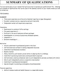 Qualification Summary Resume Classy What Is Qualification In Resume Skills Summary Resume Sample