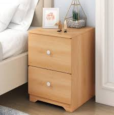 clifton bed side table cabinet nightstand night table with double drawer