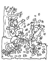 Kleurplatennl Herfst Bladeren Spelen