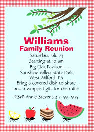 Reunion Flyer Template Free Stock Vector Family Reunion Invitation