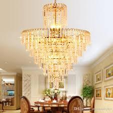 modern crystal chandelier led lamps american gold chandeliers lights fixture home indoor lighting dining room hotel hall restaurant light french chandelier