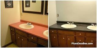 paint before and after 6 imagine rustoleum spray countertops stone