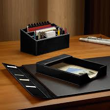 morgan desk set 3 piece black