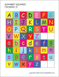 I have saved the files in a high resolution format which means that you will get great quality prints on large sizes as well as smaller sizes. Alphabet Letter Squares Free Printable Templates Coloring Pages Firstpalette Com
