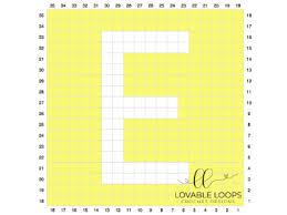 Letter E Graph Free Crochet Pattern Alphabet Crochet