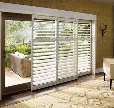 vertical faux wood blinds for sliding glass doors design